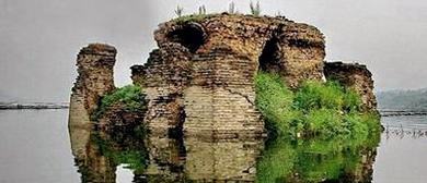 迁西县喜峰口水下长城图片